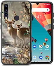 for Umidigi A5 Pro Case, ABLOOMBOX Shockproof Slim Thin Soft Flexible TPU Silicone Protective Cover for Umidigi A5 Pro Hunting Camo Camouflage Deer in forest