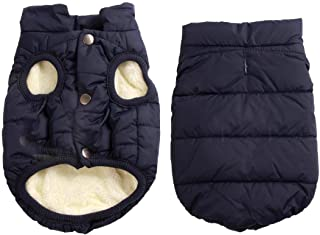 Best JoyDaog 2 Layers Fleece Lined Warm Dog Jacket for Puppy Winter Cold Weather,Soft Windproof Small Dog Coat Review