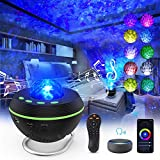 Star Projector Galaxy Light Projector, Ocean Wave Night Light Projector, Work with Alexa, Smart APP, Bluetooth Speaker, Timer, Remote & Voice Control, for Baby Kids Adults Bedroom/Decorating/Party