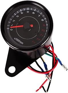KKmoon 12V Od/ómetro Tac/ómetro Moto LCD Tac/ómetro Digital Cuentakil/ómetros 7 colores 0-10000 RPM 0-199 KM//H Negro