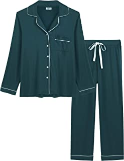 Image of Bamboo Elegant Green Christmas Pajamas for Women - Also Available in Red