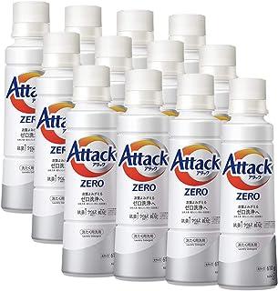 【ケース販売】アタック ゼロ(ZERO) 洗濯洗剤(Laundry Detergent) 大サイズ 本体 610g×12個 (清潔実感! 洗うたび白さよみがえる)