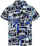 Funky Camisa Hawaiana, Comic, monoblue, XS