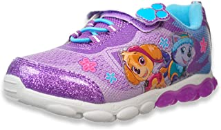 Nickelodeon Paw Patrol Girls Light Up Lightweight Sneakers (Toddler/Little Kid), Purple Skye Everest, Size 11 Little Kid'