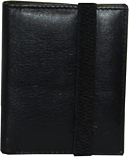 Laveri Genuine Leather Credit Card Holder Wallet Bill and Card Holder Unisex Wallet, Leather - Black
