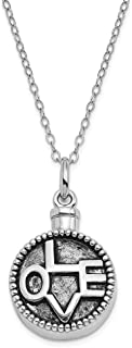 925 Sterling Silver Love Ash Holder 18 Inch Chain Necklace Pendant Charm S/love Inspirational Fine Jewelry For Women