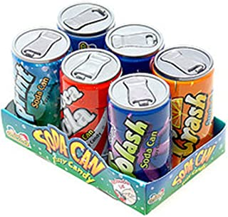 Soda Cans Fizzy Candy Six-Packs 1 Count