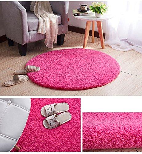 Mago Rund Teppich Fitness-Yoga-Matten Wohnzimmer Schlafzimmer Computer Stuhl Teppich Schöner Teppich (Color : #10, Size : 80 * 80CM)