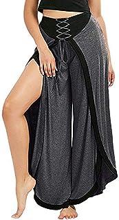 AgrinTol Yoga Pants, Women Loose Baggy Yoga Sexy Wide Leg Pants Lace Up Loose High Waist Pants
