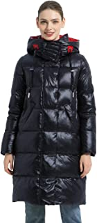 AMELIE GALANTI Women's Down Coat Long Puffer Jacket Lightweight Warm Down Quilted Packable Parka with Hood