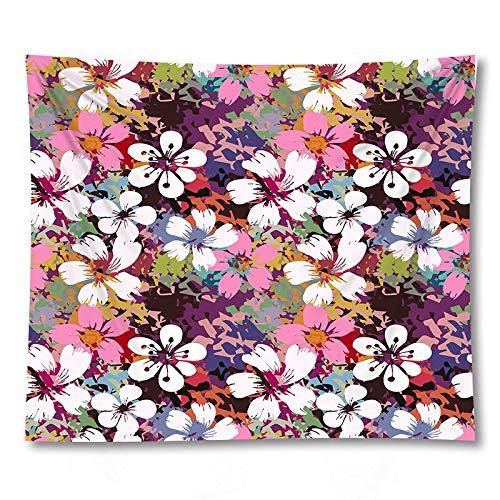 PPOU Tapices para Colgar en la Pared con Flores Mantas de sofá decoración del hogar tapices de Tela de Fondo A4 73x95cm