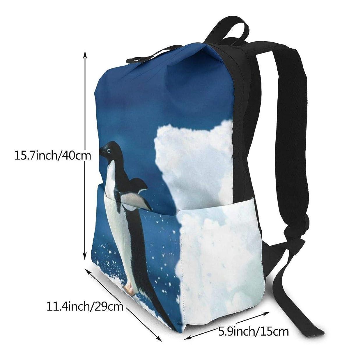 西部保持コウモリ双肩バッグ リュックサック Animal Penguin バックパック Schoolbag 大容量 通学 中学生かばん リュック スクエアリュック 男女子高校生 バック 通学 通勤 40X29X15(Cm)