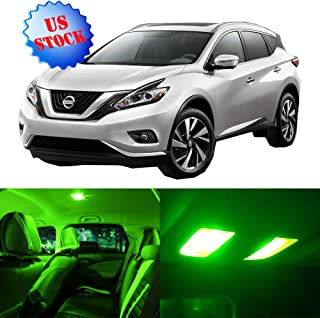 SCITOO Interior LED Lights Green Replacement for 2015-2017 Nissan Murano Accessories Package Kit 8Pcs