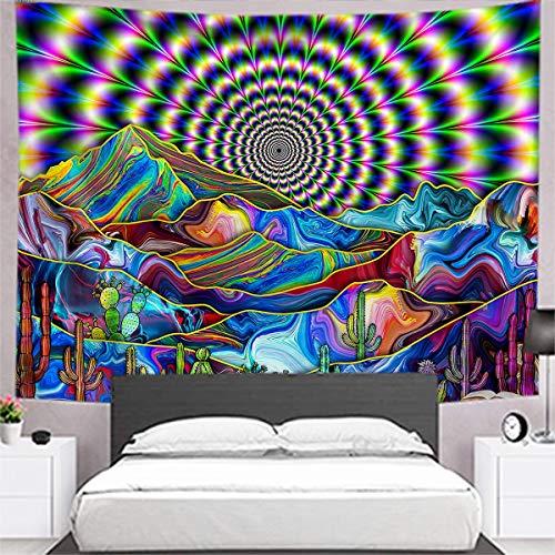 Persian cat Tapiz para colgar en la pared, diseño bohemio psicodélico, fondo decorativo para sala de estar, dormitorio, A7