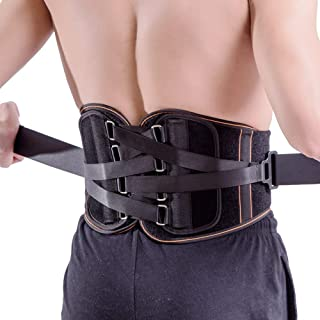 Best King of Kings Lower Back Brace Pain Relief with Pulley System - Lumbar Support Belt for Women and Men - Adjustable Waist Straps for Sciatica, Spinal Stenosis, Scoliosis or Herniated Disc - Large Review