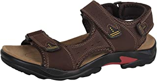 4How Men's Sport Sandals Leather Water Shoes Outdoor