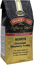 Door County Coffee, Chocolate Raspberry Truffle, Flavored Coffee, Medium Roast, Ground Coffee, 10 oz Bag