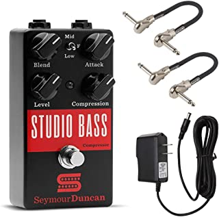 Seymour Duncan Studio Bass Compressor Pedal Bundle with 2 MXR Patch Cables and 9V Power Supply