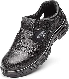 ZYFXZ Chaussures de sécurité étanches, Chaussures Acier Cap/Acier Intercalaire Metal Work Chaussures Hommes, Été Respirant...
