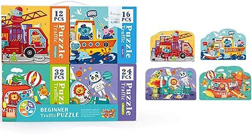 SPFTOY Jouet Intellectual Quatre-en-Un thème Morceaux Puzzle Puzzle début éducation Jouets Enfants