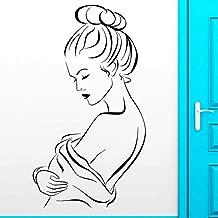 JiuJiu.Yan Beautiful Woman Wall Stickers Hot Naked Girl Wall Stickers for Bathroom Home Bedroom Living Room Vinyl Art Mural74x42cm