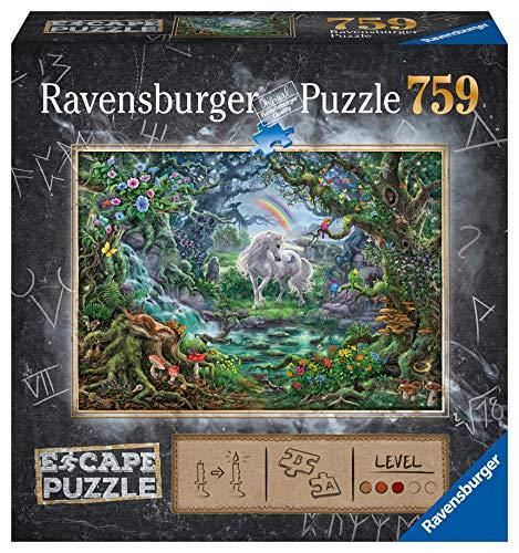 Ravensburger Puzzle, 759 Piezas, Escape the Puzzle - Unicornio, para adultos, Rompecabezas de calidad