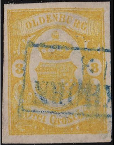 Goldhahn Oldenburg Nr. 14 II gestempelt Plattenfehler geprüft und signiert Bühler Briefmarken für Sammler