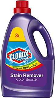 Clorox Clothes Original Liquid Colored Clothes Color Booster, 100% Stain Removal, 3L
