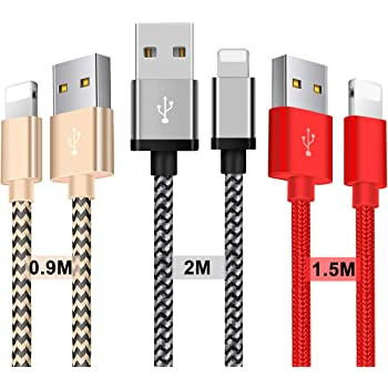 Zeuste Chargeur iphone Câble iphone [3 Pack 1.5m] Nylon