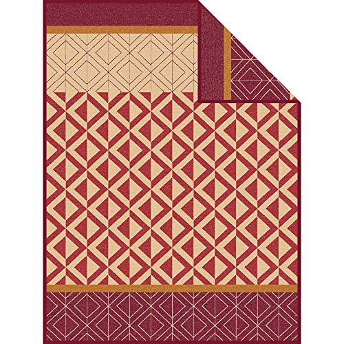 Ibena Wolldecke Kaschan 1652 / Tagesdecke braun/Camel/Kuscheldecke 150x200 cm aus toller Baumwollmischung/Besonders angenehm warm und weich zur Haut