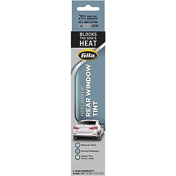 Gila Heat Shield 20% VLT Automotive Window Tint DIY Heat Control Glare Control Privacy (6in x 26in Strips)