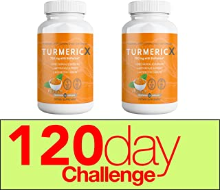 QFL TurmericX Veg Capsules (240) 4 Month Supply.1500MG 95% Curcumin Turmeric Powder with Ginger, Black Pepper for Better Absorption - Non-GMO Antioxidant & Anti-Inflammatory Joint Pain Relief (2)