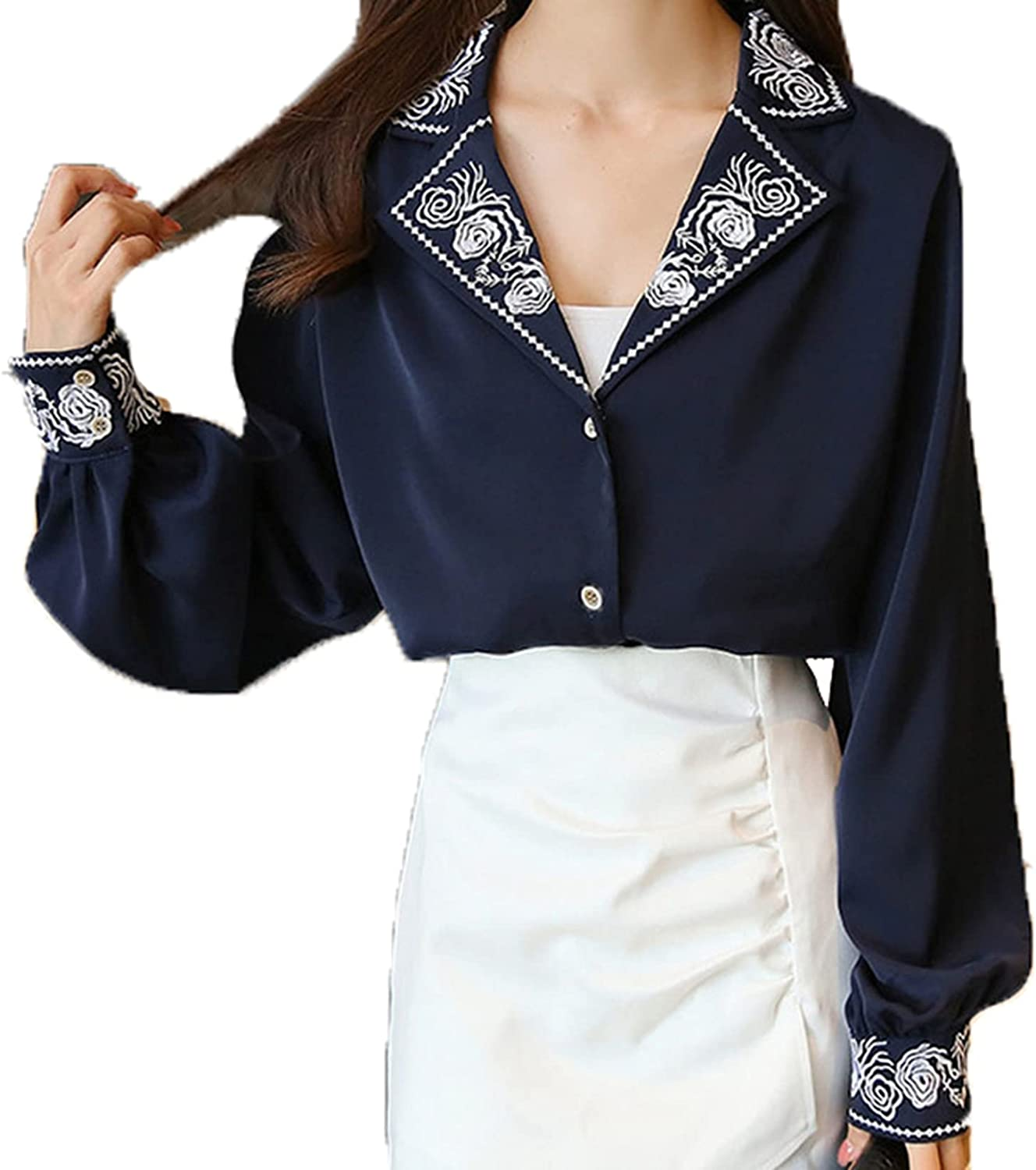 Ranking TOP12 Blouse for Women excellence Anti-Fading Tops Cozy Business Embroidery