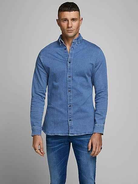 Jack & Jones Jjigeorge Shirt Stretch LS Camisa Vaquera para Hombre