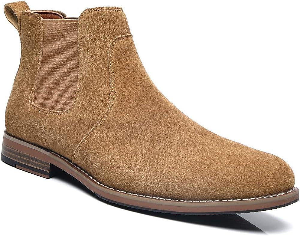 Slip-on Leather unisex Chelsea High order For Boots Men