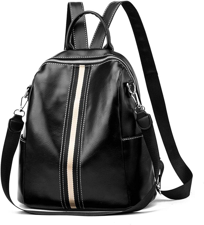 SYORD Damen Rucksack PU Leder Leder Leder Elegante Handtasche Casual Daypack Schulrucksäcke Tasche Schulranzen (Schwarz) B07NTVYNW1  Günstige Bestellung 43bcdc