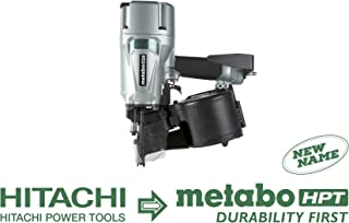 Metabo HPT NV83A5 Pneumatic Coil Framing Nailer, 2-Inch up to 3-1/4-Inch Round Head Coil Nails, Tool-less Depth Adjustment, 16 Degree Magazine, Hardened Claw Tip, Rafter Hook, 5-Year Warranty