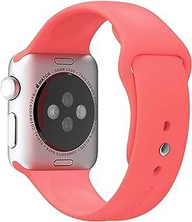 Apple Watch Kordon 1 2 3 4 5 Seri 38mm-40mm Silikon Kayış Yavru Ağzı