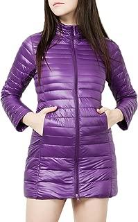 Women's Ultra Light Weight Outdoor Coat Packable Outwear Long Puffer Down Jacket
