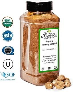 HQOExpress | Organic Ground Nutmeg | 18 oz. Chef Jar