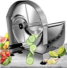 NEWTRY Commercial Vegetable Slicer Shredder Fruit Slicer 0-12mm (15/32inch) Thickness Adjustable Stainless Steel for Potat...