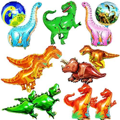 BESTZY Tier Folienballon 13pcs Riesen Dinosaurier Ballons Dinosaurier Helium Luftballon Foil Ballon Kit für Kinder Geburtstag Party Dekoration Spielzeug Jurassic Welt Supplies