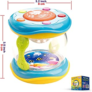 Baby Portable Drum Musical Instrument - Music learning for Ages 18 month to 4 years.