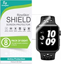 (8-Pack) iWatch 42mm Screen Protector (Series 3 2 1, Nike+) RinoGear Case Friendly iWatch Screen Protector for Apple Watch Series 3 42mm Accessory Full Coverage Clear Film