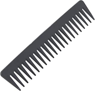 Atonfun Black Carbon Fiber Tooth Comb 100% Anti static 230℃ Heat Resistant,Detangling Comb,Detangler Hair Comb for Long Wet Hair/Straighten Curly Hair