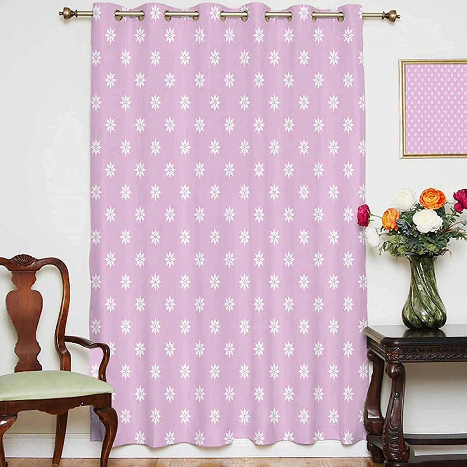 Oakland Mall oobon Blackout Shading Curtains Daisy Chamomile Pattern Abstract Max 82% OFF