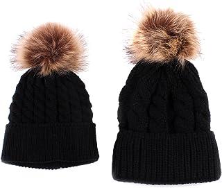F Fityle Winter Hat Europ Pop Women Ball Wool Cute Fur Hat Beanies Thick Warm Knitted Hat