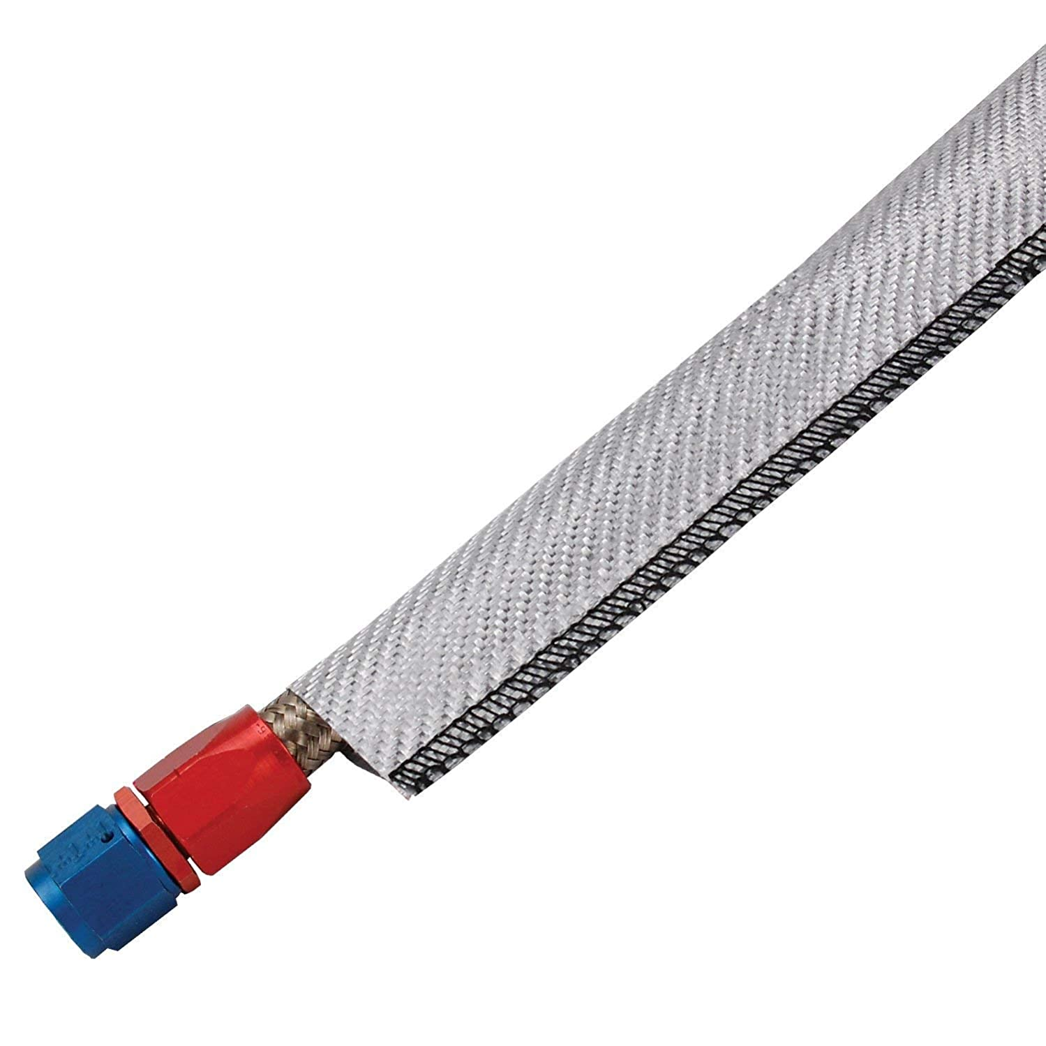 Design Engineering 010232 Ultra Sheath MA Lightweight Extreme Heat Protection for Hoses, Fuel Lines & Electrical Wiring, 0.75