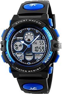 Loijon 1163 Relógios Crianças Esportes ao ar livre Crianças Relógios Relógio pulso quartzo digital para meninos Meninas Re...