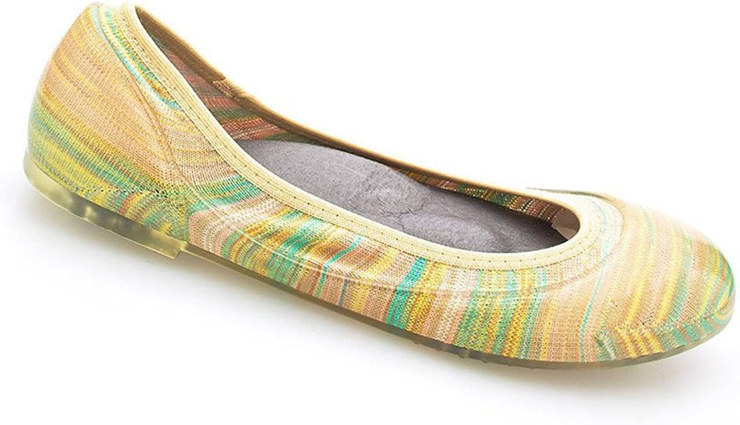 Ja-vie Comfy Jelly Knit Flats, Pastel Stripe